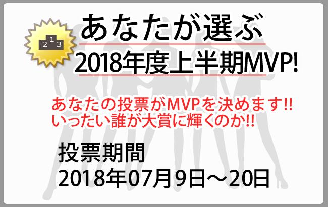 あなたが選ぶ2018上半期MVP!!