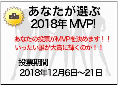 あなたが選ぶ2018MVP!!